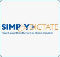 SimplyDictate logo design